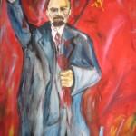 Dipinto raffigurante Vladimir Lenin